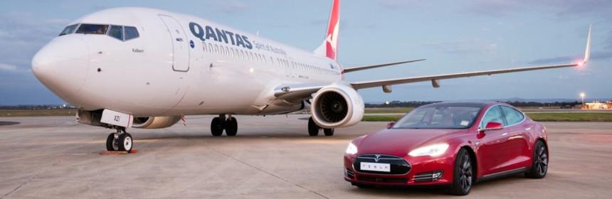 В Австралии состоялась «дуэль» между Tesla Model S и Boeing 737